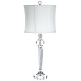 Crystal Lamp With White Shade